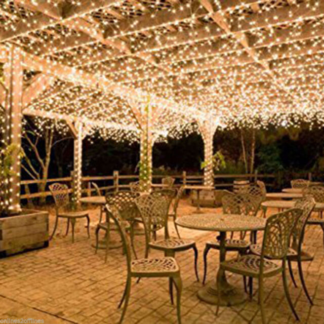100 400led Warm White String Fairy Lights Christmas Party Wedding Garden Decor 400 Led 164 Feet Ebay