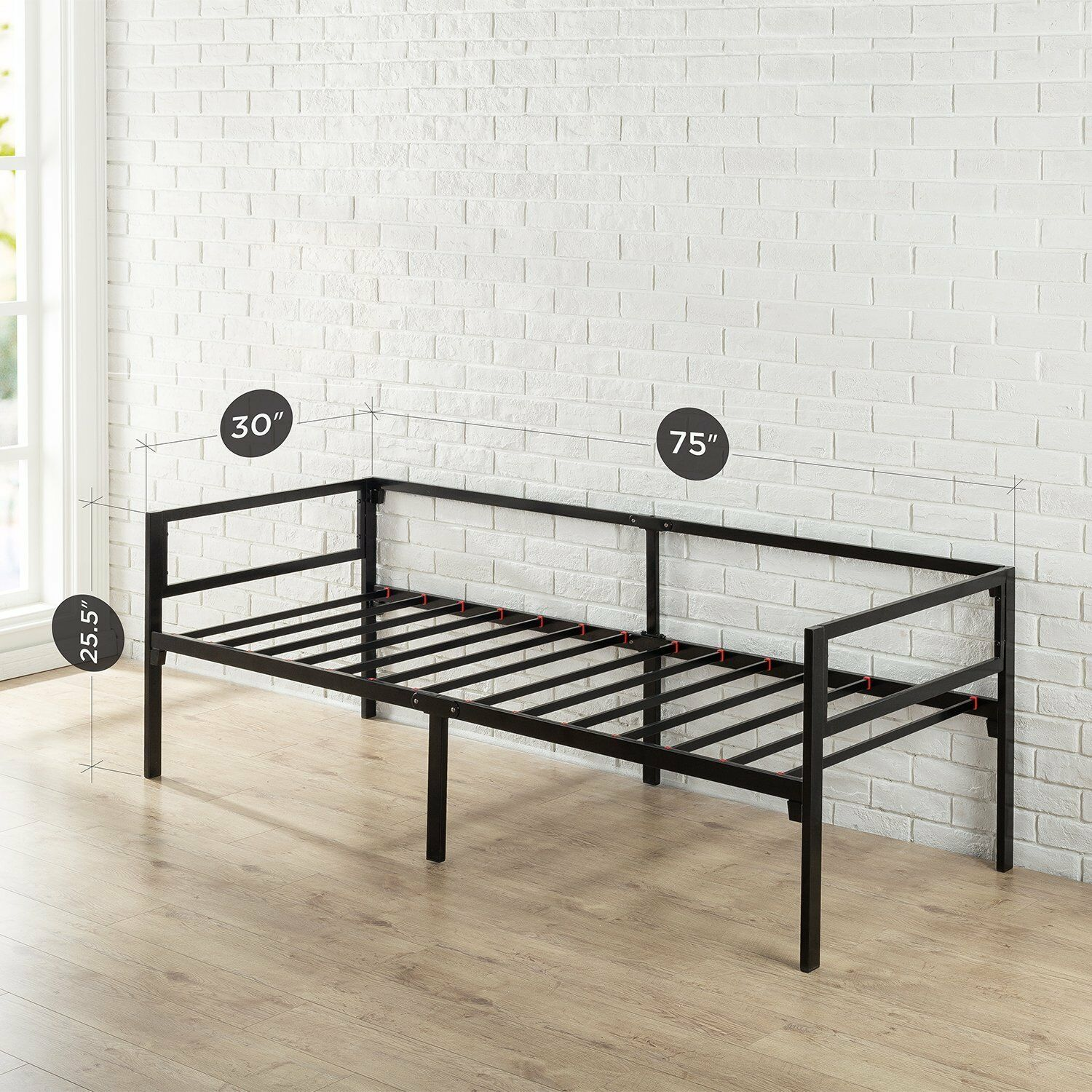Brand new  lowest price. Zinus Quick Lock 30 Inch Wide Day Bed Frame and Foam Mattress Set