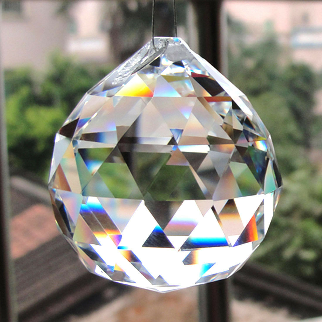 10 clear chandelier crystals ball bottom lamp prisms hanging light picture 1 of 3 arubaitofo Choice Image