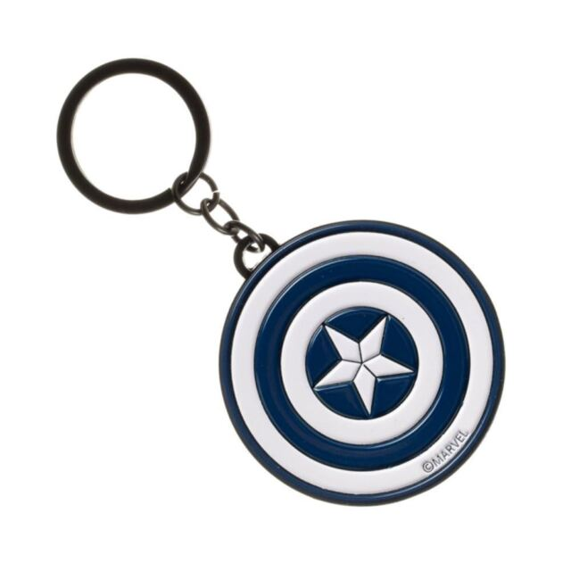 Captain America & Iron Man 2 Sided Metal Key Chain  Brand New & Licensed