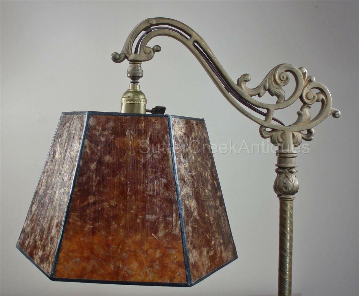 Mission arts crafts mica bridge floor lamp shade amber tailor picture 1 of 9 aloadofball Image collections