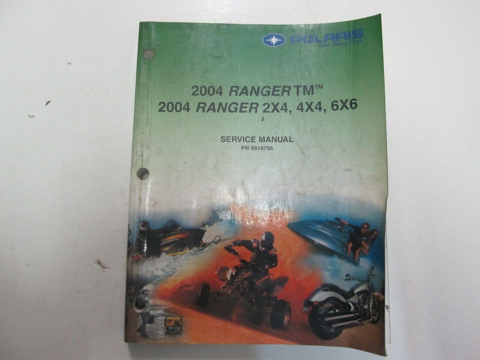 2004 polaris ranger 2x4 4x4 6x6 tm service repair manual ebay picture 1 of 12 sciox Images