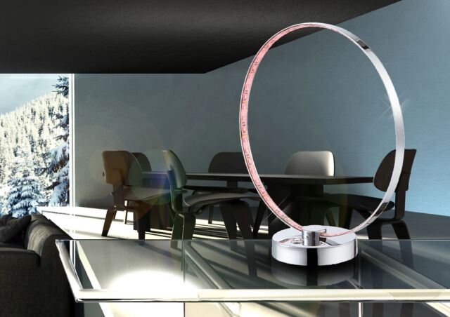 LED Tischleuchte Farbwechsel Globo 28001 Bague 12 W Lampen-Ring Leselicht Deko