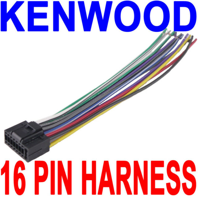kenwood wire wiring harness 16 pin cd radio stereo fast usa ebay rh ebay com Wiring Harness Diagram us wiring harness