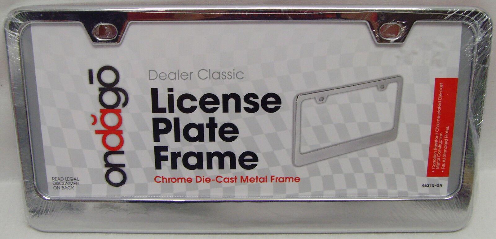 Bell Automotive Frames 221462158 Classic Chrome Dealer License Plate ...