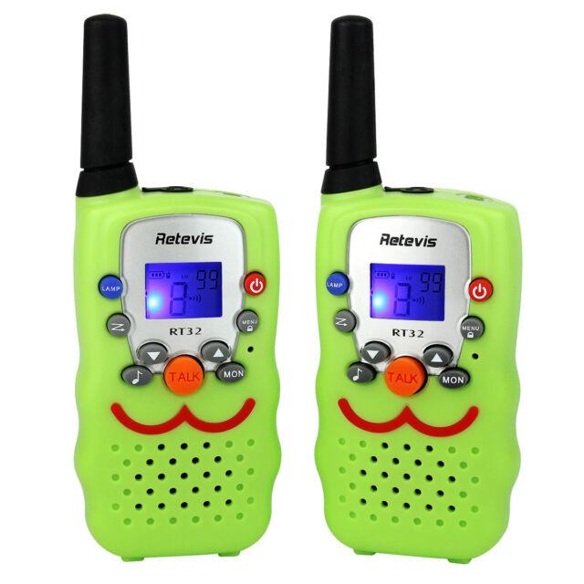 2xKids Walkie Talkies Retevis RT32 UHF 0.5W 8CH VOX LED Flashlight Christmas Toy