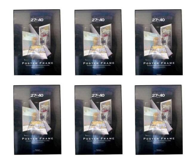 Value Pack Six 27x40 Movie Poster Frames Black Edges Embled 27 X 40