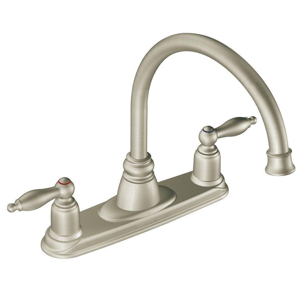 Moen 7902SL Castleby 2-handle Kitchen Faucet in Stainless Steel   eBay