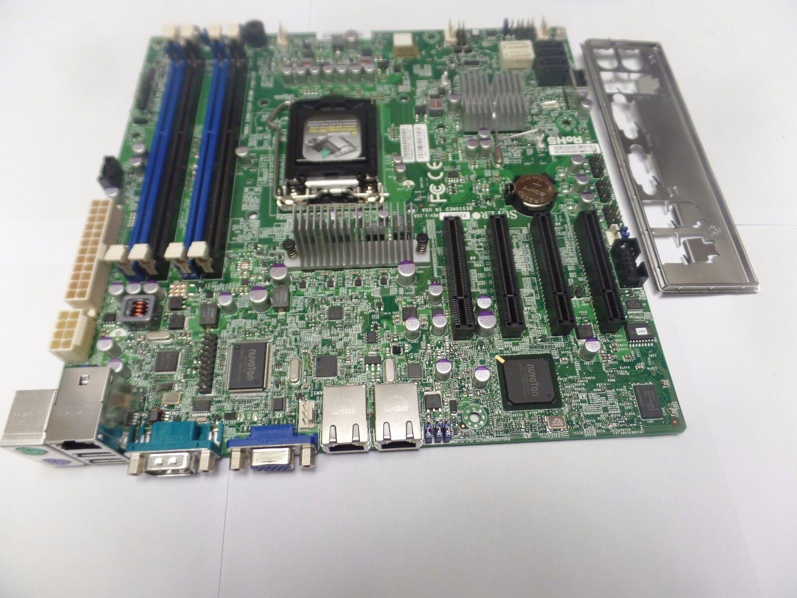 LGA 1155,Server board /& Celeron G540 I//O shield /&  fan SuperMicro  X9SCM-F