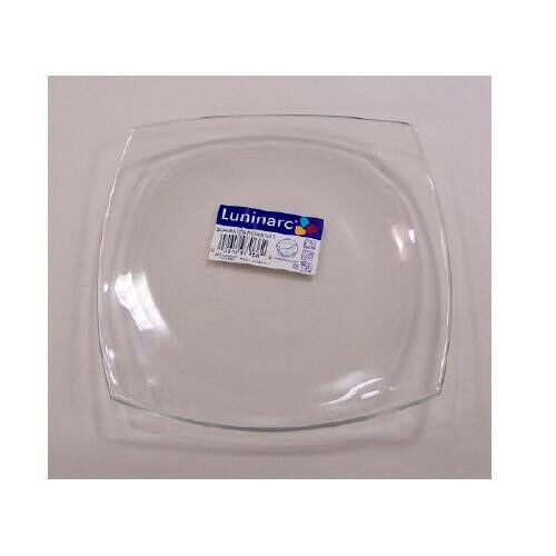 Luminarc Quadrato Clear Glass 4 Salad Plates Square Arc Glass Dinnerware France | eBay  sc 1 st  eBay & Luminarc Quadrato Clear Glass 4 Salad Plates Square Arc Glass ...