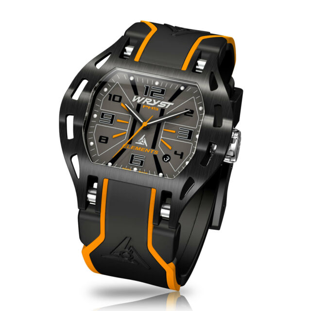 Black & Orange Swiss Watch Wryst Elements PH5 Black DLC Coating Limited Edition