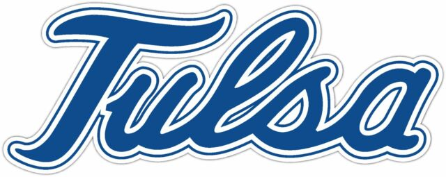 Tulsa golden hurricane ncaa vinyl car bumper window sticker decal