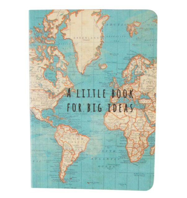 Sass belle vintage world map a little book for big ideas picture 3 of 3 sciox Images