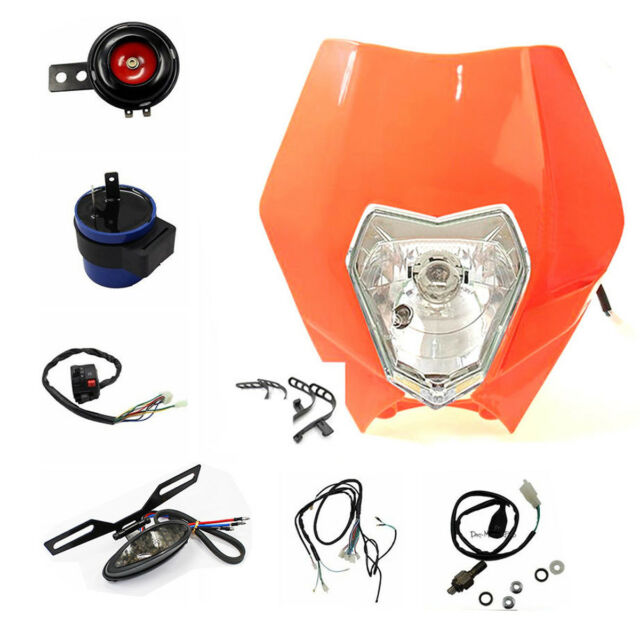 Rego Rec Reg Kit Head Tail Light for 12v KTM 125 250 350 450 Excf