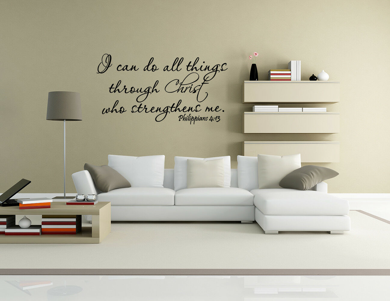 Picture 11 of 13 ... & Bible Verse Wall Decals Word Vinyl Removable Sticker Quote ...