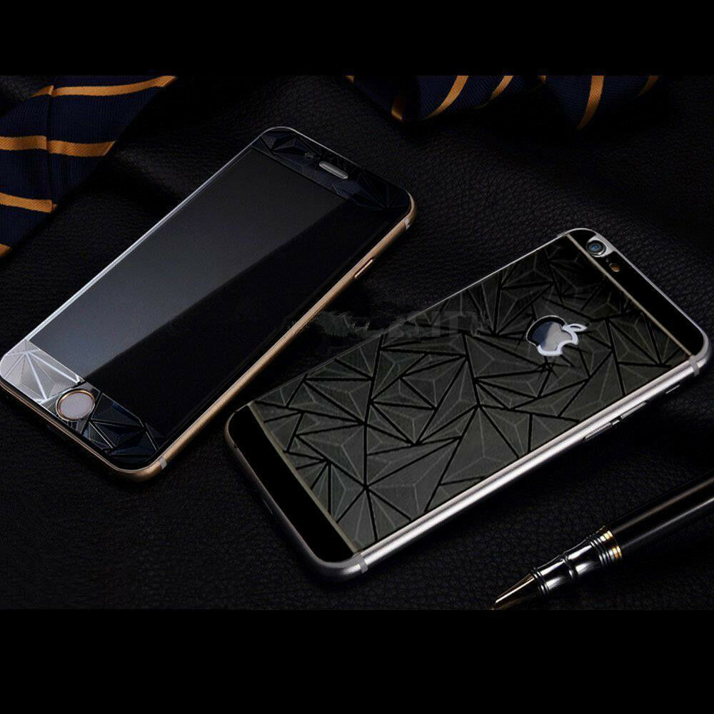 Rose Gold 3d Mirror Tempered Glass Front Back Screen Protector