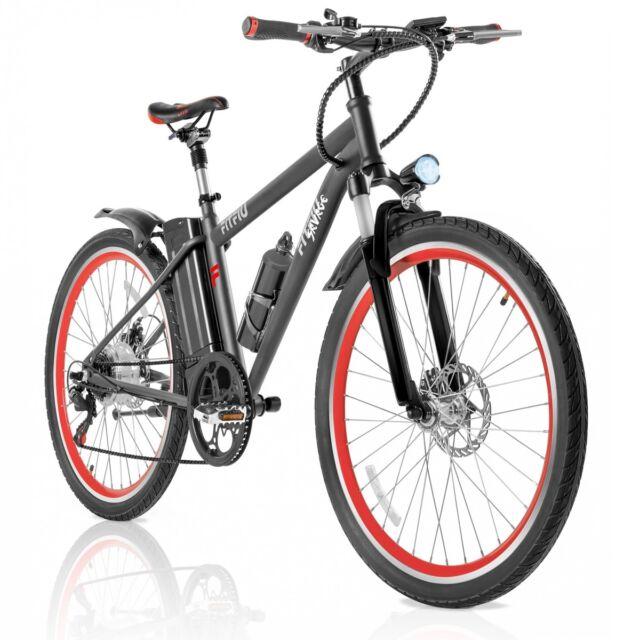 """Bicicleta electrica bateria litio 36V 250W cambio Shimano rueda 26"""" –FITFIU"""