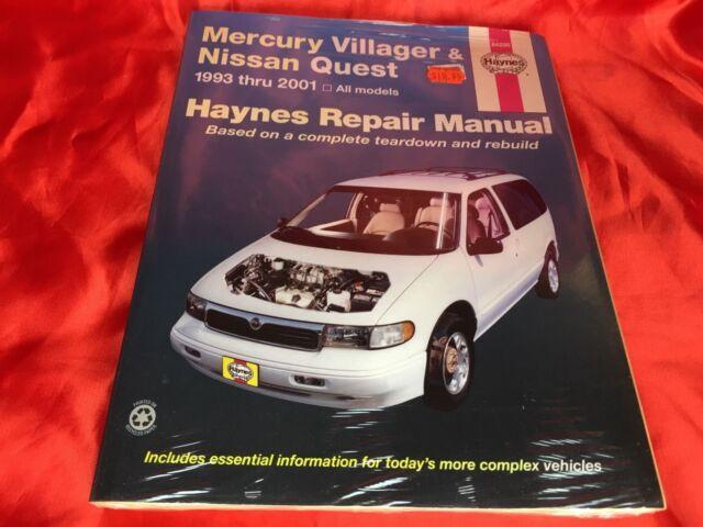 haynes repair manual mercury villager nissan quest 1993 thru 1998 rh ebay com 2000 Mercury Villager 2012 Mercury Villager