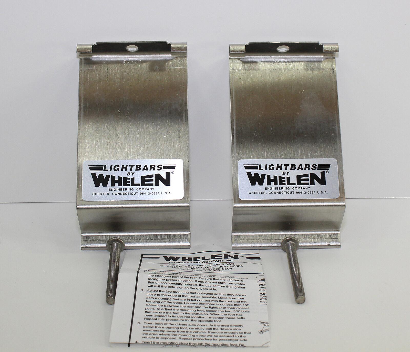 Whelen light bar siren mounting bracket set 62726 ebay picture 1 of 4 sciox Gallery