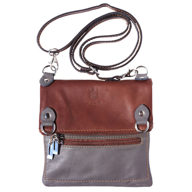 Crossbody Bag Italian Genuine Leather Hand Made In Italy Florence 408