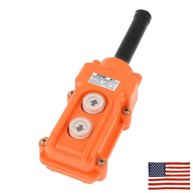 Us cob 61 crane pendant control station up down hoist push button us cob 61 crane pendant control station up down hoist push button switch mozeypictures Choice Image
