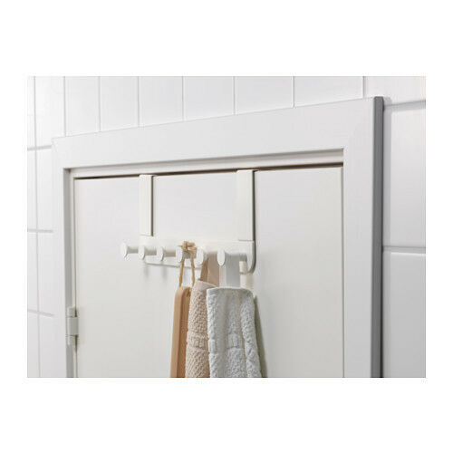 ikea enudden over door 6 hooks hanger knobs white clothes bags coats