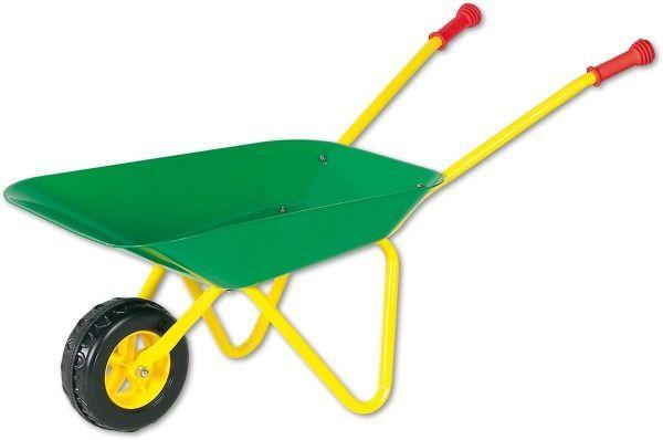 Kinderschubkarre Metall grün  gelb TÜV/GS Kinder Schubkarre Spielzeug Wanne