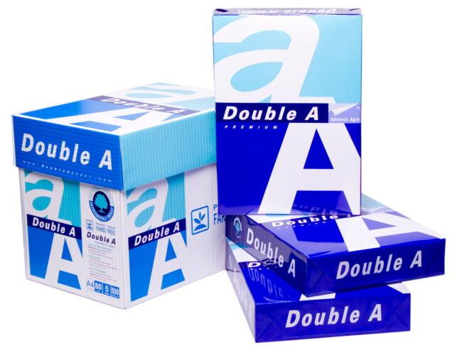 KOPIERPAPIER A4 DOUBLE A 2.500 Blatt 80g hochweiß  DAS TOP-Druckerpapier !!