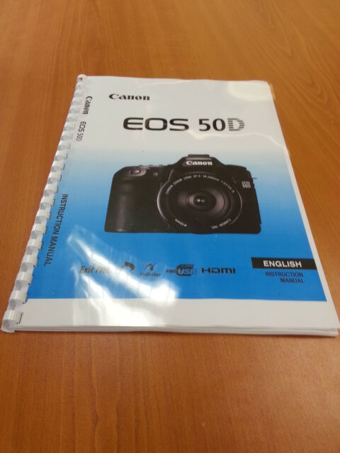 canon eos 50d full user guide instruction manual printed 224 pages rh ebay co uk Canon EOS 7D canon eos 50d user guide download