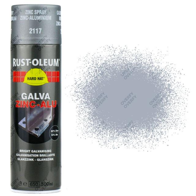 x13 Rust-Oleum Galva Zinc Alu 2117 Galvanised Repair Spray Paint Hard Hat
