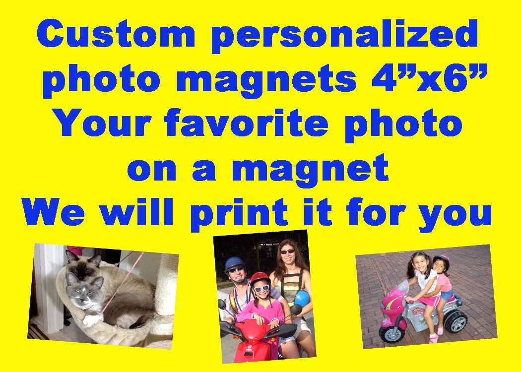 custom made personalized 4 x6 refrigerator fridge magnet prints