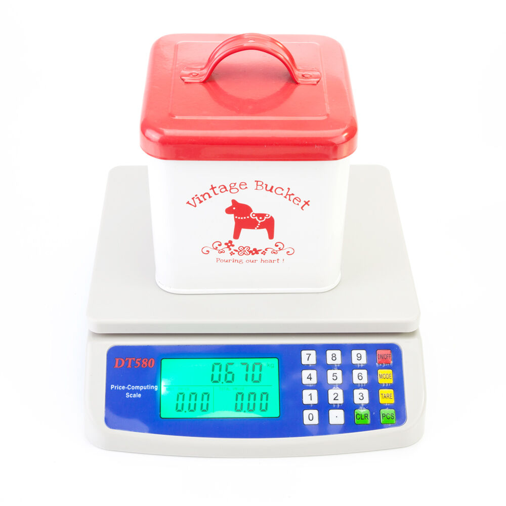Electronic Digital Weight 33lb 15kg *1g Computing Food Meat Kitchen ...