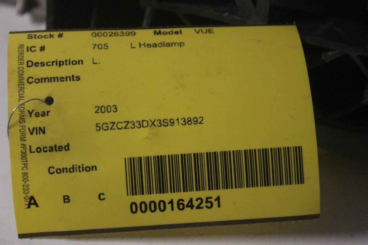 2002 2004 Saturn Vue Front Left Driver Side Headlight 26399 Ebay Commercial