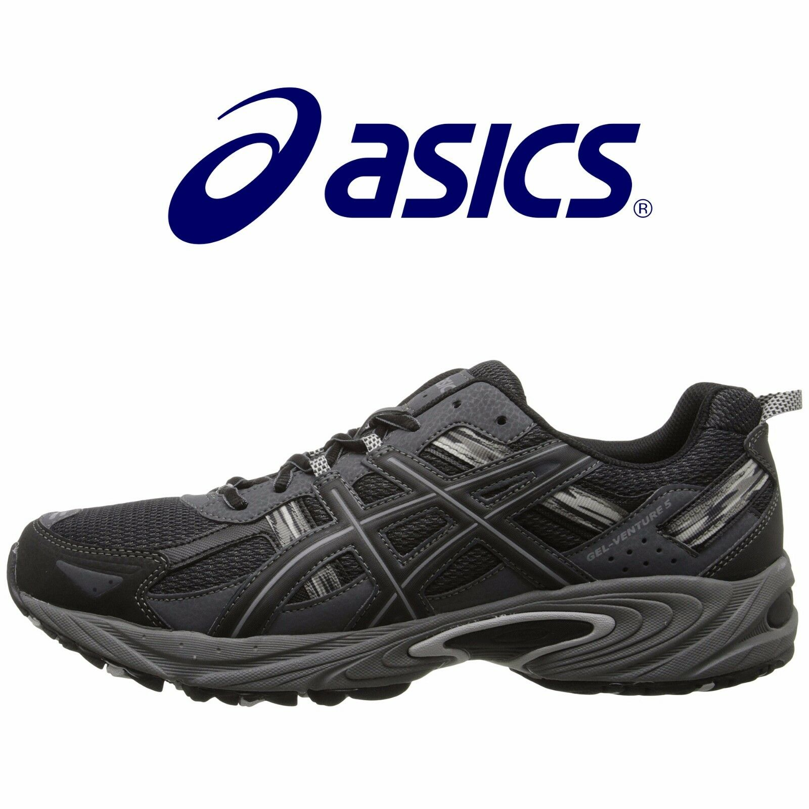 item 2 Mens ASICS GEL Venture 5 Running Shoes Black Onyx Charcoal All Sizes  NIB -Mens ASICS GEL Venture 5 Running Shoes Black Onyx Charcoal All Sizes  NIB