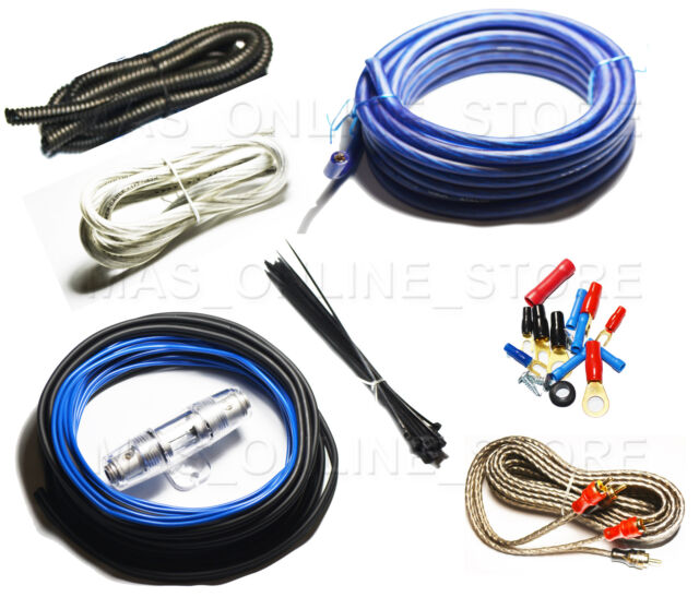 bullz audio 8 gauge car amplifier amp installation power wiring kit rh ebay com