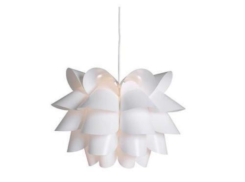 sc 1 st  eBay & IKEA Knappa White Pendant Lamp Fitting With Shade - B787   eBay