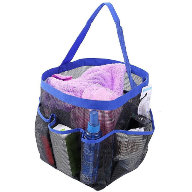 Shower Caddy Mesh 8 Pocket Portable Quick Dry Travel Tote Carry ...