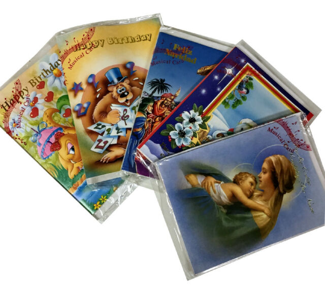 20000x Assorted Musical Greeting Cards Birthday Christmas English