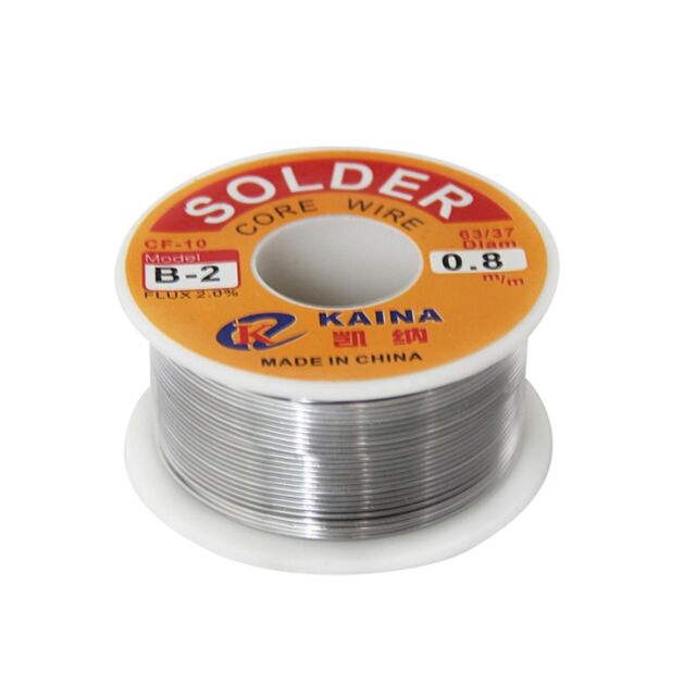 63/37 0.8mm Tin Lead Rosin Core Solder Flux Soldering Welding Iron Wire Reel XY