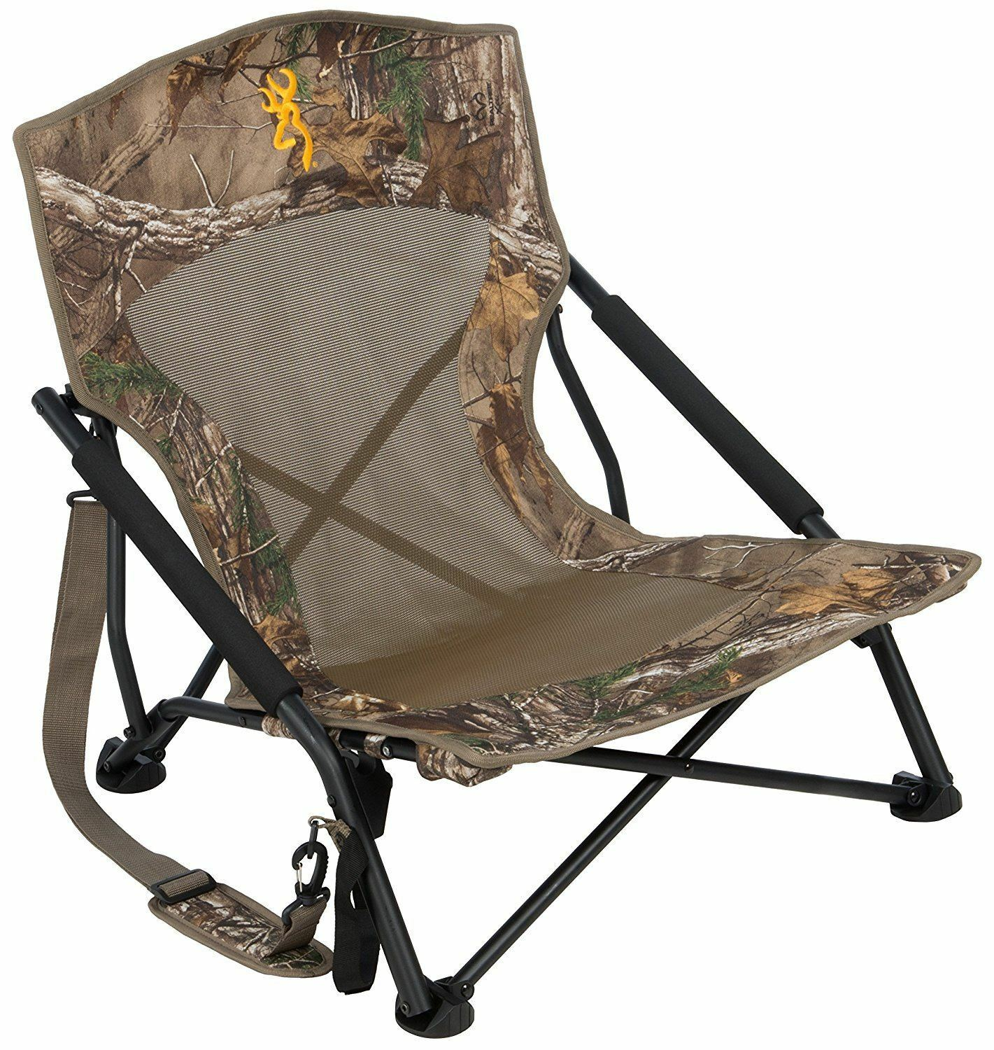 Picture 1 of 5 ...  sc 1 st  eBay & Camo Hunting Chair Blind Folding Seat Camping Outdoor Turkey Back ...