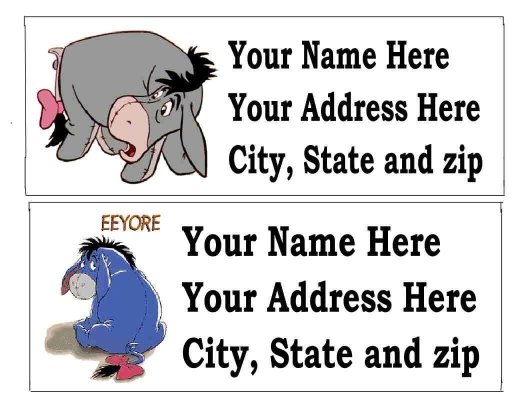 30 eeyore or other disney return address labels ebay