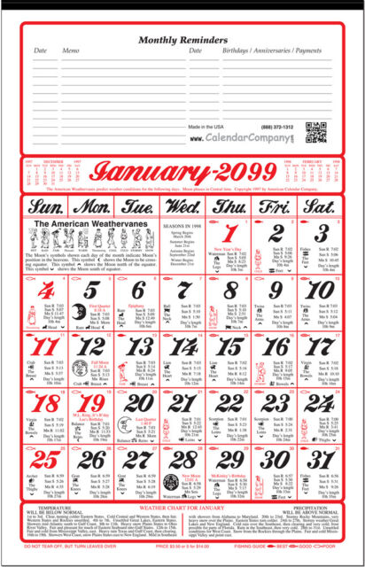 2018 almanac calendar sunrise weather fishing planting for Farmers almanac for fishing