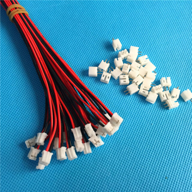 20 Sets Mini Micro JST 2.0 Ph 2-pin Connector Plug With Wires Cables ...