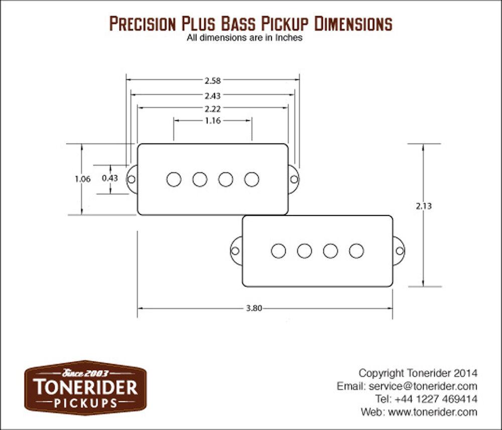 Tonerider TRP1 Precision Plus P Bass Pickup eBay