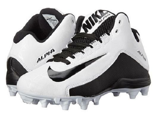 NIKE ALPHA STRIKE 2 3/4 D Men's Football Cleats Black/White Size 9