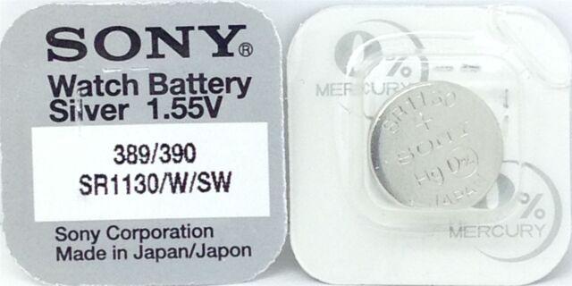 Sony 390/389 SR1130 V390 D390 603 280-24 SB-AU SR1130SW SR54 Batterie montre