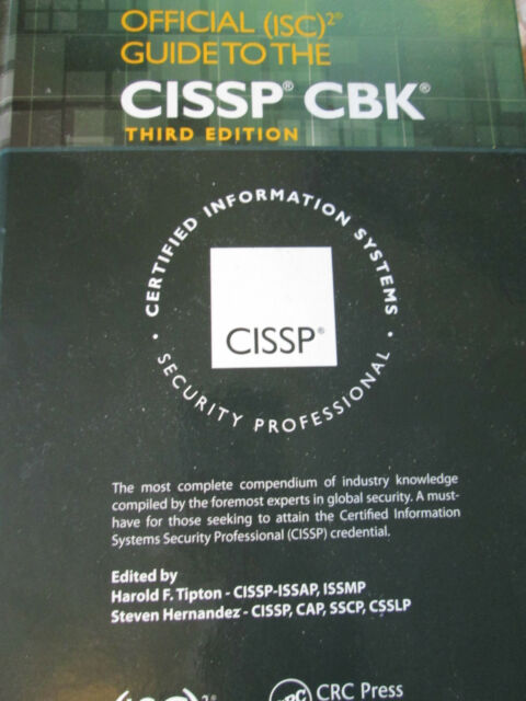 Official (ISC)2 Guide to the CISSP CBK, Third Edition Hernandez  HARDBACK