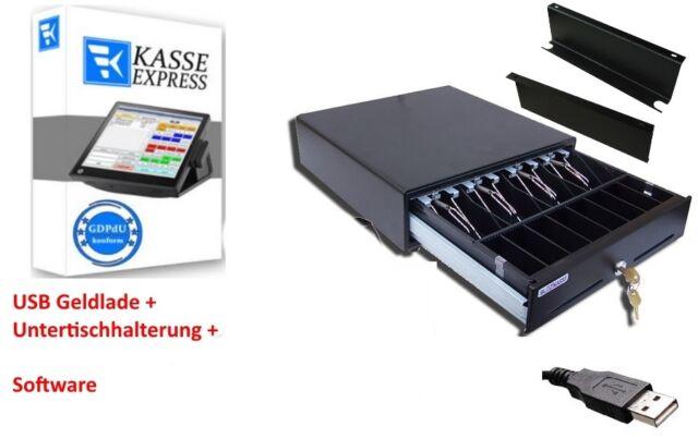Kassen-Set USB Kassenlade, Windows GASTRO  KASSENSOFTWARE Untertischhalterung