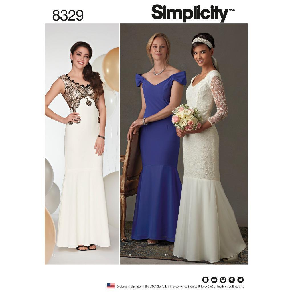 Bridal sewing patterns ebay simplicity sewing pattern misses evening prom wedding dress size 4 20 8329 jeuxipadfo Image collections
