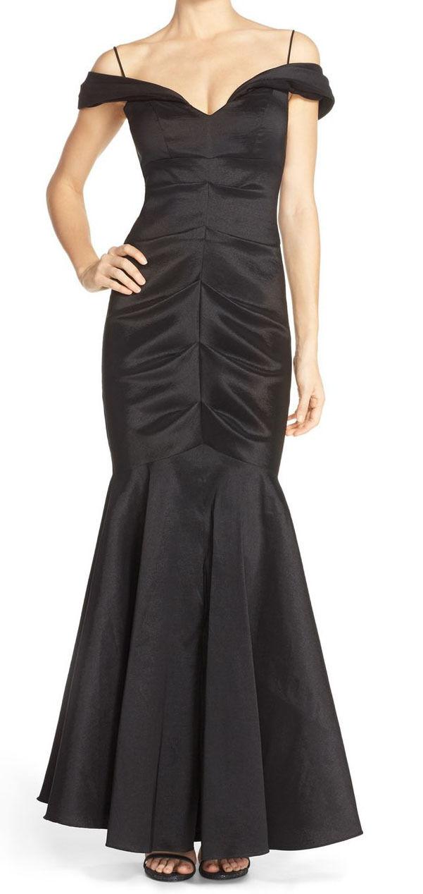Xscape Ruched Off-shoulder Taffeta Mermaid Gown Sz 8 #in 2/8 | eBay